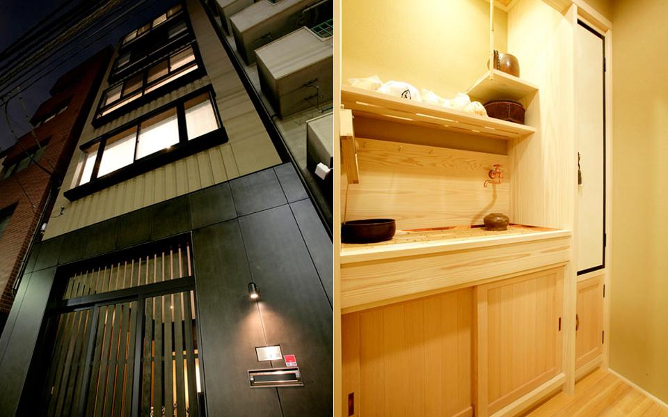 都心に住む。茶室のある 5階建ビルのリノベーション。