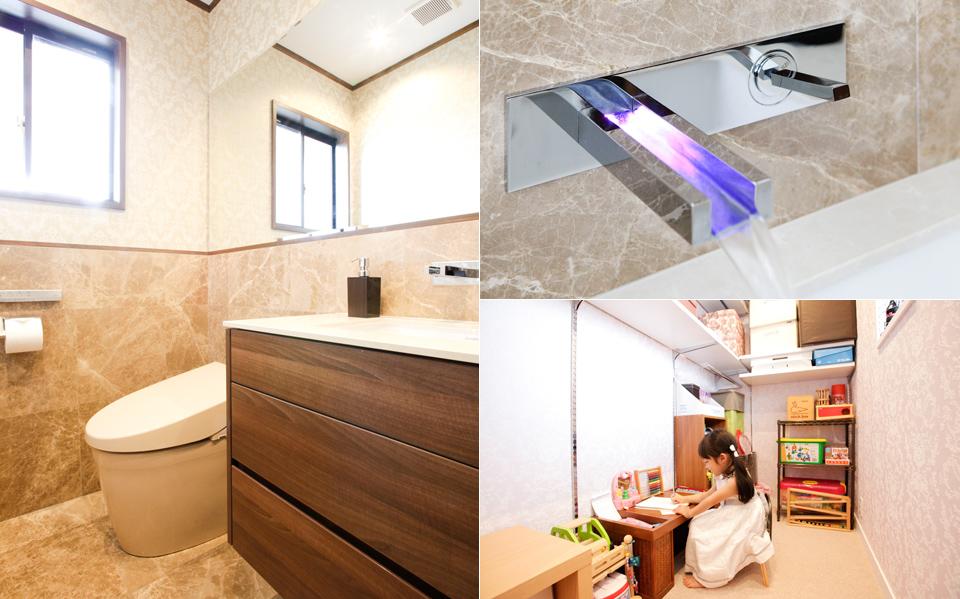 空間に溶け込む御影石の「家具」キッチン