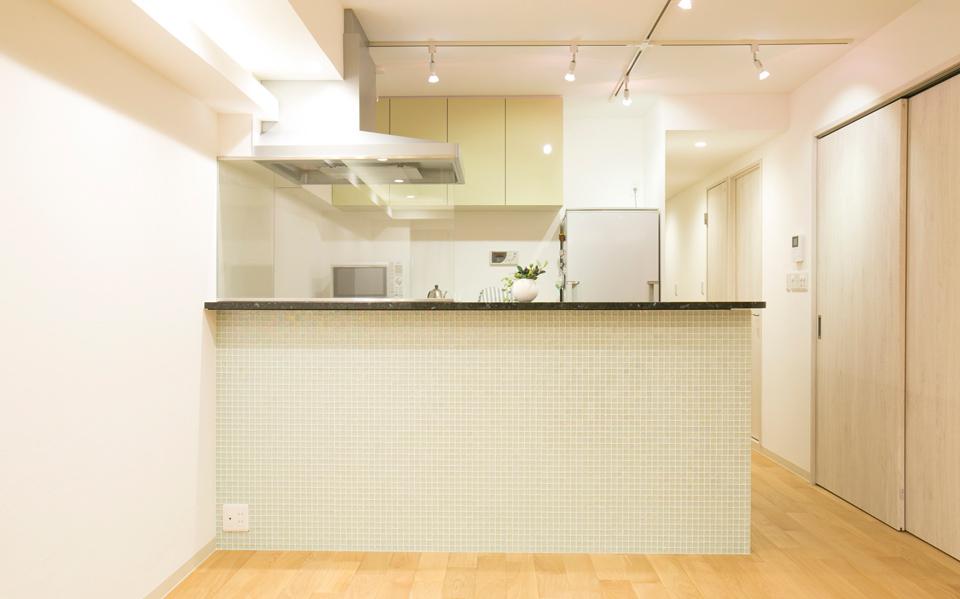 オープンキッチンのある家